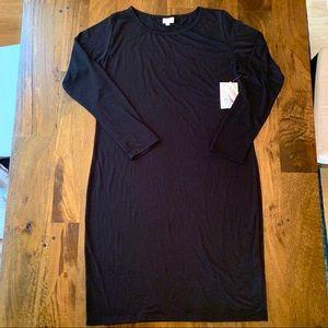 LuLaRoe Debbie sheath dress black NWT